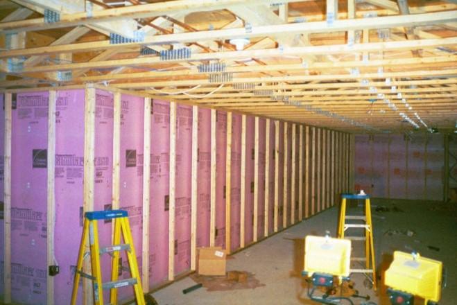 interior unfinished basement